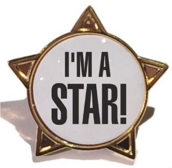 I'M A STAR! titled star badge